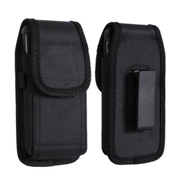 Wholesale phone holster clip - For iphone X 7 8 Plus Universal Sport Nylon Leather Holster Belt Clip phone Case Cover Pouch for Samsung S8 S9 S9 Plus
