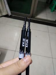 Wholesale Pen Comb - Kylie waterproof Eyebrow Pencil with Comb Eye Brow Eyebrow Liner Pencil Pen With Brush makeup Cosmetic Tool KKA459
