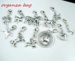 Aragoste online-MIC 110 pezzi argento antico lega Mix cavallo fascino ciondolo e aragosta artiglio chiusura gioielli fai da te