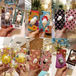 Wholesale Plastic Toy Apples - Cute Soft squishy toy Phone case for iPhone X 6 6s Plus 7 7plus 8 Cases Cartoon TPU Cover Samsung S8 S8PLUS