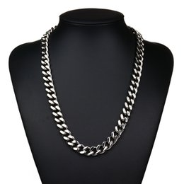 Wholesale Cuban Link Wholesale - 2016 New Fashion Jewelry Never Fade Stainless Steel Chain Necklace Cuban Chain Chokers Necklace For Gift