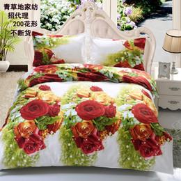 Wholesale Orange King Size Comforters - Wholesale-2016 4pcs 3d bedding sets bedding-set linen set cotton bed sheets king size no comforter duvet cover set bedclothes 072