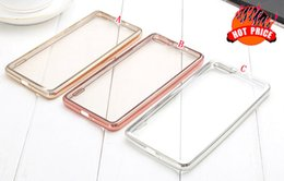 Wholesale Xiaomi Hongmi Cover - Electroplate Bling Soft TPU Case Clear Transparent For Xiaomi MAX Mi4 M4 Mi5 M5 4S 5S Mi4C Mi 4C Redmi Hongmi Note 4 3 2 Cover skin Fashion