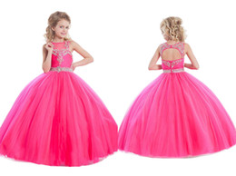 Wholesale Cheap Toddler Girls Skirts - Princess Wedding Toddler Skirts 2016 Pageant Ball Gowns Flower Girls Dresses Formal Floor Length For Little Girls Dress Crystals Cheap Kinds