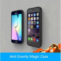 nano stick Rebajas Funda antigravedad Selfie Atrás Stick Grip Succión mágica Nano Absorción Fundas Para iphone X 8 7 plus 6 6s plus 5s samsung s8 s8 plus s7 edge