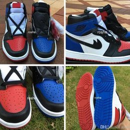 Wholesale Black Canvas High Top Sneakers - High Quality Retro 1 Top 3 Men Basketball Shoes Retro 1s OG Shattered Backboard Away Mandarin Duck Sports Sneakers With Shoes Box
