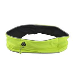 Wholesale Mobile Phone Cycling - Unisex Outdoor Cycling Waistpack Jogging Running Sport Waist Bag Reflective Strip Bag Fashion Malathon Mobile Phone Bag New 2509024