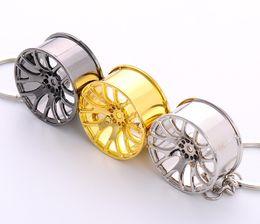 Wholesale Fancy Keychains - 2016 Hot Sell - Metal Alloy Keychain Pendant, Car Key Ring Creative Wheel Hub Chain For Auto Fancier Man Women Christmas Gift