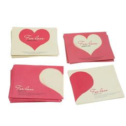 Wholesale Red Invitation Paper - Wholesale- Kicute 10pcs Cartoon Paper Envelope Romantic Red Love Heart Pattern Mini Envelope for Wedding Party Invitation Gift Envelope