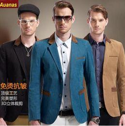 Wholesale Korean Fashion Wear For Summer - 2016 Brand Suit Jacket For Men Spring Autumn Coat Korean Male Fashion Slim Style New Arrival High Quality Men's Casual Blazer