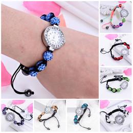 Wholesale Crystal Ball Bracelet Watch - Charms Bracelets for Women Crystal AB Clay Disco Balls Shamballa Bracelet Like Watch Bracelet Bangle