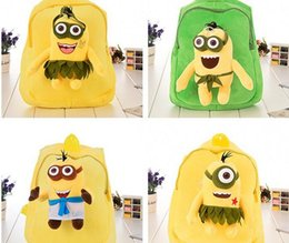 Wholesale Despicable Plush Backpack - 2016 kid favorite cute cartoon Despicable Me style choose plush toys school bag should back bag kid party gift