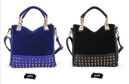Wholesale Elegant Womens Handbags - Newest Design Womens PU Handbags European Designer Blue Handbags Quality Gurantee Fashion Elegant Totes on Discount 1