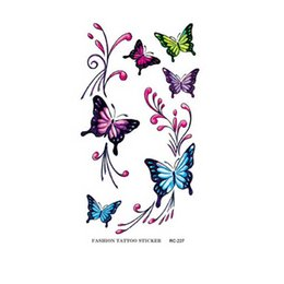 Wholesale Temporary Tattoo Sticker Sex - Waterproof Temporary Tattoos Body Art Beauty Products Water Transfer Tattoo Sex Product Colorful Butterfly Tattoo Sticker
