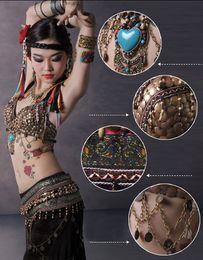 Wholesale Belly Dancing Bras - Tribal Style Belly Dance Costume 2 Pics Bra&Skirt 34B C 36B C 38B C XL Bra D Cup