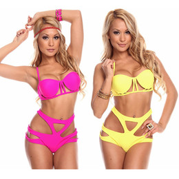 Wholesale Retro Swimdress - 2016 new models in Europe and America retro sexy bikini swimwear swimsuit waist Ms. conserved