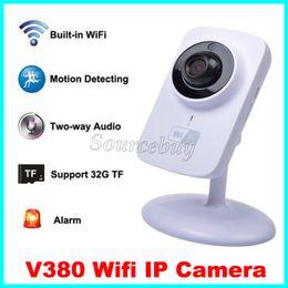 Wholesale Wireless Recording Cctv - Wireless HD 720P 1280*720 V380 Wifi IP Camera Security P2P IR LED Monitor Night Vision Surveillance CCTV Smart Camera Support TF Card Record