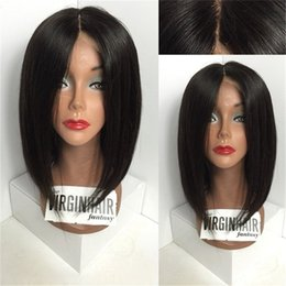 Wholesale long black bob wig - Brazilian Human Hair Full Lace Wig Straight Lace Front Wig Short Bob Hair Glueless Full Lace Wig Wavy For Black Women