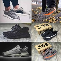 Wholesale Tassel Boots Pink - (with box) 2017 Kanye West 350 V2 V1 Boost Shoes black Yellow Red Pink Gold rock sport running shoes Athletic Boots sneakers 36-45