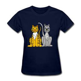 Wholesale Tiger 3d Tshirt - womens Tshirt two tigers 3D funny printied short shirt plus size 2XL 2017 Summer new arrvial white black blue gray ladies tee