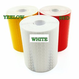 Wholesale White Reflective Tape - 5cm*300cm Reflective Tape Stickers Car Styling For Automobiles Safe Material Warning Tape Automobiles Motorcycle Reflective Film