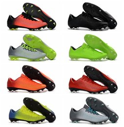 Wholesale Cheap Spiked Shoes For Men - Mercurial Vapor XI FG Mens Football Boots New Soccer Shoes Mercurial Soccer Cleats For Men Cheap High Quality Football Cleats Soccer Boots