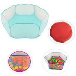Wholesale Ball House Tent - Wholesale-Hot sale Kids Play Game House tent Pool Children Tent Ocean Ball Pool Baby Educational Toys Outdoor Fun Sports Lawn Game