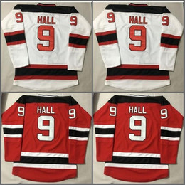 Wholesale M Logos - 2017 New Jersey Devils 9 Taylor Hall Jersey New Style Red White Home Men Taylor Hall Ice Hockey Jerseys Fashion Stitched Embroider Logos
