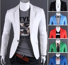 Wholesale Men Shiny Blazer - Multi-color Plus Size Men Business Blazer Suits Long Sleeve Solid Slim Brief Style Shiny Blazer For Men Single Breasted Men Suits J160407