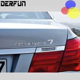Wholesale 3d Bumper Stickers - For BMW Performance Active Hybrid 3 5 7 Trunk Bumper Number Letters Badge Emblem Tuning Sticker ActiveHybrid