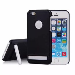 Wholesale Heavy Bag Cover - For iPhone 6 6S 7 Plus 5 5S SE Heavy Duty Defender Case KickStand Impact Hybrid Armor Hard Plastic Cover For Samsung Galaxy Note5 Phone Bags