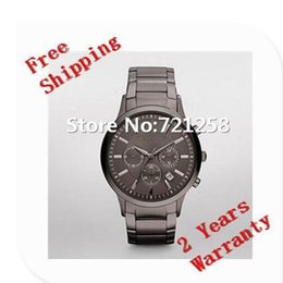 Wholesale Ceramic Chronograph Watches - free hk shipping _Absolute luxury NEW GENTS CHRONOGRAPH MENS WATCH AR2454 2454 GENTS GREY WRISTWATCH +original box