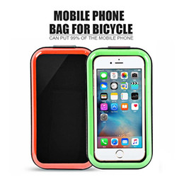 Wholesale Mobile Road - Waterproof Outdoor Cycling Mountain Road MTB Bike Riding Bicycle Bag Package Front Tube Mobile Cell Phone Black Blue Green Orange