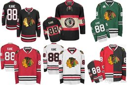 Billige hockey jerseys china online-2016 neue billige Chicago Blackhawk Trikots Patrick Kane Jersey Herren China Trikots Authentische Chicago Blackhawks 100% genähte Hockey Trikots