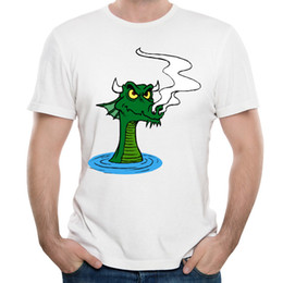 Wholesale Male Dragon Clothing - Super ugly fool dragon men funny t shirts strange taste male printing clothes high quality fabric fit crew neck design for man