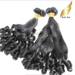Cheveux funèbres vierges 8a en Ligne-Extensions péruviennes de cheveux humains de Funmi de cheveux Trames Aucun paquet de cheveux de produit chimique Double trame Couleur naturelle Grade 8A 3pcs / lot Bellahair