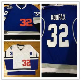 Wholesale Nylon King - 2017-18 New Style Los & Kings Combination 32 Koufax Mix Style With King Patch Stithced Hockey Baseball Jerseys