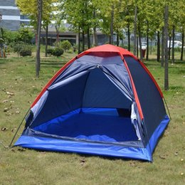 Wholesale Two Room Tents - Wholesale- Folding Waterproof Single Layer Two People Tent Outdoor Ultra Light Rainproof Windproof Picnic sleep Camping Beach Tent Shelter