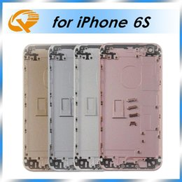 Wholesale Metal For Doors Wholesale - For iPhone 6S Back Housing Metal Frame Replacement For iPhone 6S Plus Battery Door Cover Gold Rose Gold Silver Grey
