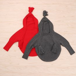 Wholesale Girls Dolman - Wholesale Boys Girls Childrens Hooded Sweaters Dolman Sleeve Pullover Hoodies Autumn Winter Poncho Outwear Kids Clothes Enfant Sweaters