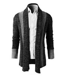 Wholesale Chinese Wool Sweater - Long Cardigan Men 2016 Autumn New Mens Cardigans Casual Slim fit Sweater Long Business Gentleman Clothing Sweaters