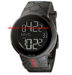 Wholesale Steel Quartz Crystal - Luxury Wristwatch New Digital Rubber Strap Men's 44mm Watch YA114207 Quartz Mens Watches Men's Watch Top Quality