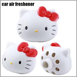 Wholesale Perfume Holder Wholesale - 10 pieces lot Car Air Freshener Hello Kitty Air Freshener Perfume Diffuser for Auto Car Perfume Holder Plastic Air Freshener