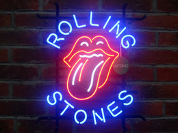 """Wholesale Rock Roll Signed - New Rock and Roll Music Neon Sign Cheap Light For Home Bar 17""""x14"""""""