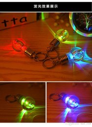 Wholesale gold couple pendant - Bright colorful bulbs Keychain   lamp beads key ring   small pendant lamp   couple key chain