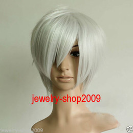 Wholesale White Silver Cosplay Wig - Free Shipping New High Quality Fashion Picture full lace wigs>>Title926 Cosplay Hakuouki Okita Souji Short Silver White Heat Wig