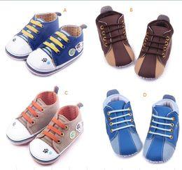 Wholesale Infant Shoes Wholesale China - Drop shipping brown bluetoddler shoes, Shoes,soft kids sports shoes,0-18 M baby canvas shoes,china infant walking shoes.12pairs 24pcs.ZH