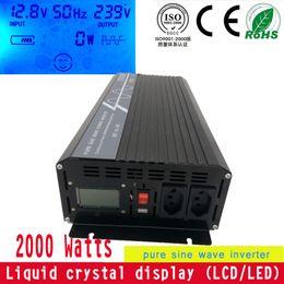 Wholesale Solar Pure Sine Inverter - ce rohs off grid solar wind hybrid pure sine wave dc 24v to ac 230v 2000w inverter