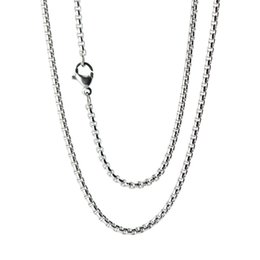 "Wholesale Anniversary Gift Boxes - 10pcs super lowest price Silver Stainless Steel 24"" 2mm box necklace Chain"