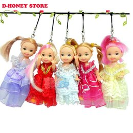 Wholesale Toy Wedding Dress - Moveable Joint Body Princess Shirley Doll 10cm Wedding Design Dress Suite Kids Toy phone bag pendant